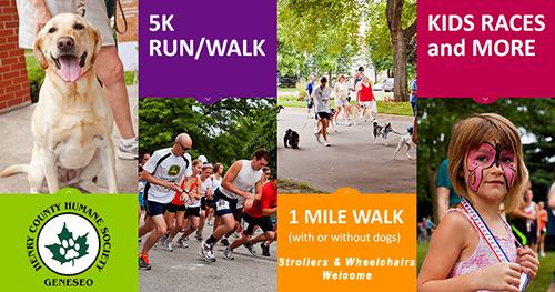5K Run/Walk, 1 Mile Walk, Kids' Races and more at Geneseo Bark in the Park